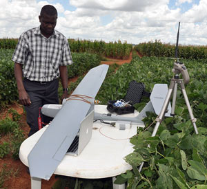 "Sky Walker"" advances phenotyping in Southern Africa Photo credit: J.L. Araus, University of Barcelona/CIMMYT."